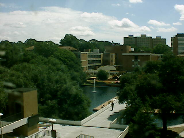 Library Bridge from Riggs Hall Webcam at Clemson University, South Carolina