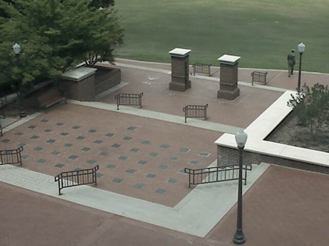 Military Heritage Plaza Webcam at Clemson University, South Carolina