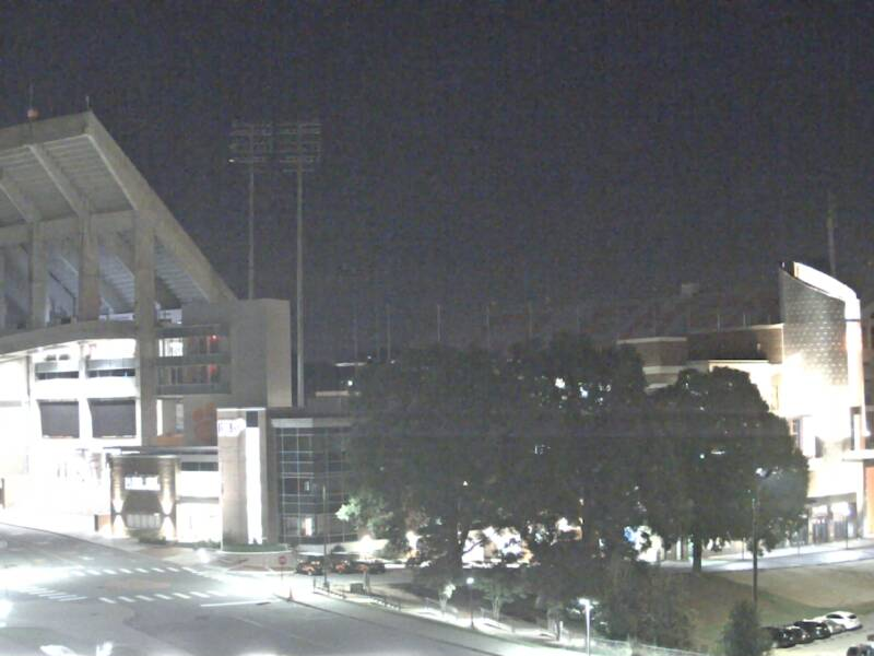 Clemson University Webcam - West End Zone from Littlejohn Coliseum